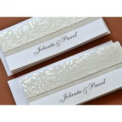 Zaproszenia ślubne perłowe...