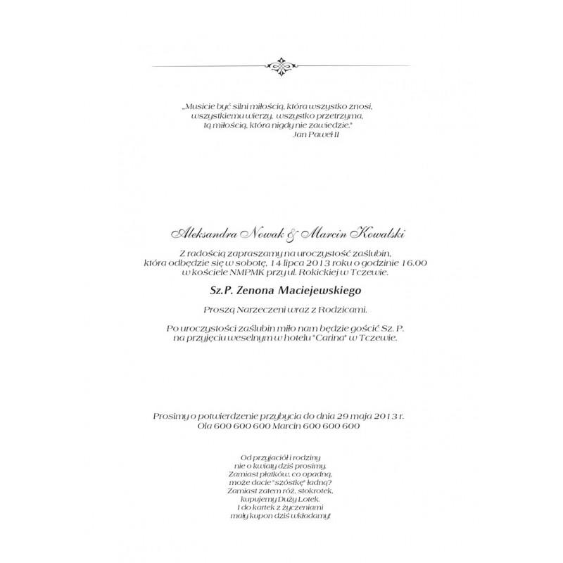 Winietki ślubne perłowe - Sposa Glitter
